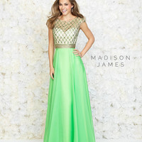 Madison James 15-152 Cap Sleeve Prom Dress