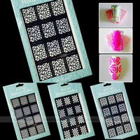 New Arrival 2 Way Stamping Tool Nail Art Template Stickers Stamp Stencil Guide Multiple Function Tips