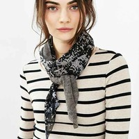 Dye Effect Knit Mix Skinny Scarf