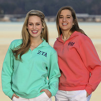 Greek Preppy Sorority Quarter Zip Sweatshirt
