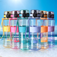 2016 New Leak-Proof Seal Large Capacity Nozzle Sport Bicycle Plastic Tritan My Water Bottles Cup With Cover Lip Filter BPA free