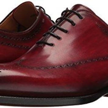 2101431bbca Magnanni Men s Stone Red Leather Shoes