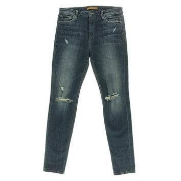 Joe's Womens RiRi Medium Wash Distressed Skinny Jeans