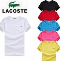 HOT?LACOSTE?MENS?T?SHIRT?6 COLORS