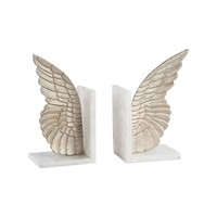 Seraph Set of 2 Bookends Champagne Gold