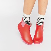Call It Spring Henrion Red Wellington Ankle Boots