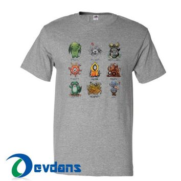 Lovecraft Demons Cthulhu T Shirt Women And Men Size S To 3XL