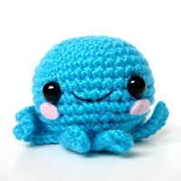 The Overjoyed Blue Octopus (Made to order)- O.N.L.