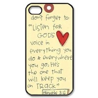 Popular Bible Verse iPhone 4, 4s Case Hard iPhone Cover Case:Amazon:Cell Phones & Accessories