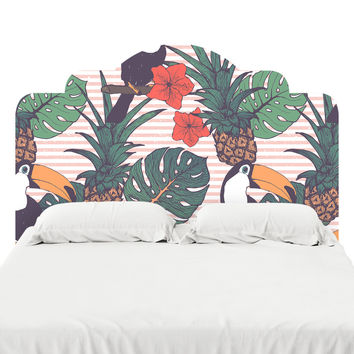 Toucans and Pineapples Headboard Decal