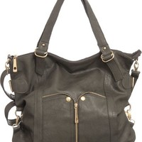 Waverly Grey Large Cross-body Convertible Tote