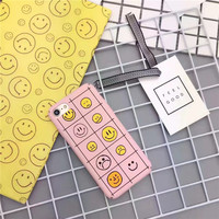 Smiley pink phone case for iPhone 5 5s SE 6 6s 6plus 6splus 7 7plus 1018J01