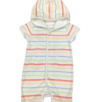 Vintage Terry Cloth Hooded Romper