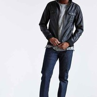 Racer Faux-Leather Jacket-