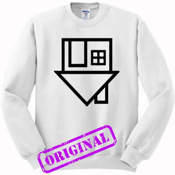 The Neighbourhood Symbol for sweater white, sweatshirt white unisex adult