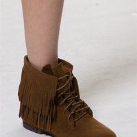 Fringe Theory Moccasins  - Tan from Oppo at Lucky 21 Lucky 21