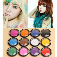 New Non-Toxic Temporary Hair Chalk Dye Soft Pastels Disposable Hair Dye Tools Salon Show Party = 1705917508