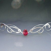 Forever My Heart Circlet silver Wedding Bridal by ElnaraNiall