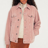 BDG Dusty Pink Corduroy Trucker Jacket | Urban Outfitters