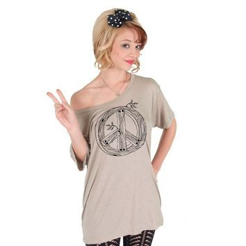 Peace Sign American Apparel Tunic