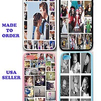 PERSONALIZED PHOTO COLLAGE RUBBER SILICONE CASE FOR IPHONE 5 5S - CUSTOM IMAGE