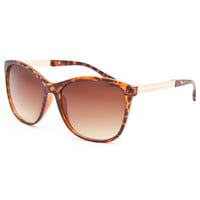 Full Tilt Pyramid Stud Cateye Sunglasses Tortoise One Size For Women 25721640101