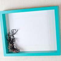 18x24 Deep Picture  Frame - Aqua Blue, Turquoise - Deep Frame, Open Shadow Box Frame