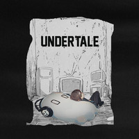 Undertale Frisk relaxing with Napstabloo video game gamer rpg T-Shirt Tee