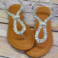 Georgia Festival Strappy Tan Sandals