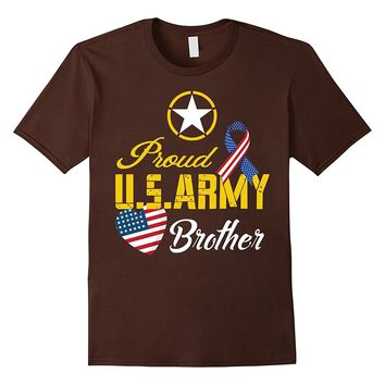 Mens Proud U.S. Army Brother Patriotic C1 Funny T-shirt