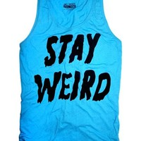 STAY WEIRD BLUE Favorite Unisex Tank Top