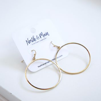 Bree Hoop Earrings, Gold
