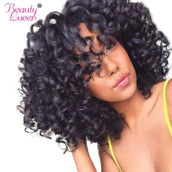 Malaysian Afro Kinky Curly Weave Human Hair Bundles Can Buy 3 / 4 Bundles Hair Extension BEAUTY LUEEN Non-Remy Hair Weaving
