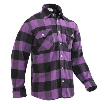 Rothco Extra Heavyweight Buffalo Purple Plaid Flannel Shirt