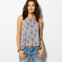 AE PRINTED ZIP-BACK TANK