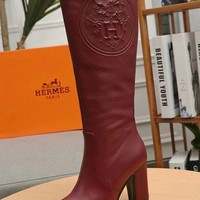 Hermes Women Fashion Casual Heels Shoes Boots