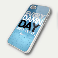 Every Damn Day JUST DO IT Nike TM00 iPhone 5 Case - iPhone 4 / 4S Case