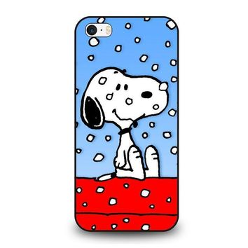 snoopy dog christmas iphone se case cover  number 1