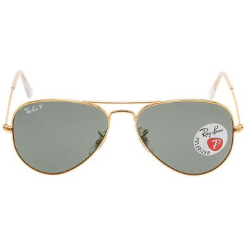 Cheap Ray Ban Original Aviator Green Polarized Sunglasses RB3025 001/58 55-14 outlet