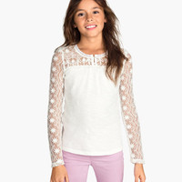 H&M Jersey Top with Lace $14.95