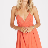 Billabong - Beyond The Sea Slip Dress | Spiced Coral