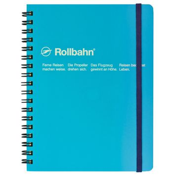 """Rollbahn Notebook Light BlueSmall 4.25 x 5.5"""" Or Large 5.5 x 7"""""""