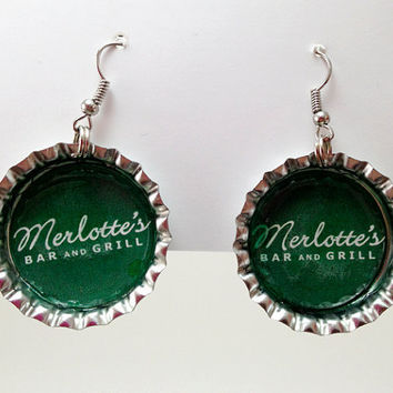 Bottle Cap Earrings True Blood Merlotte's Bar and Grill