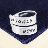 Muggle Born - Harry Potter - Adjustable Aluminum Wrap Ring - Style B