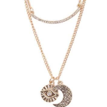 With Love From CA Cosmic Double Layer Necklace - Womens Jewelry - Gold - NOSZ