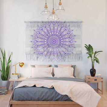 Violet mandala Wall Hanging by juliagrifoldesigns