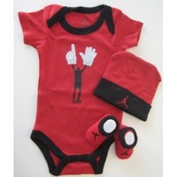 Jordan Bodysuit Baby 3pcs 0-6 Month New+ Free 3.5mm Anti Dust Plug for phone