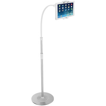 Cta Ipad And Tablet And Smartphone 2-in-1 Flexible Floor Stand & Mount With Led Lamp