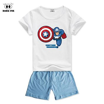 DMDM PIG Kids Baby Clothes For Boys Toddler Girl Clothing Sets Girls Clothes Sports Suits Costume Child Summer Suits Clothes Set