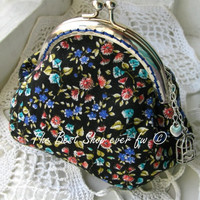 Cute purse, cosmetic bag with a clasp, in which You can hold different things, money or cosmetics